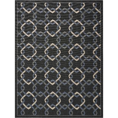 Kittrell Charcoal/Blue/Gray Indoor/Outdoor Area Rug Rug Size: Rectangle 710 x 106