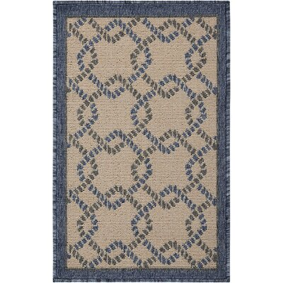 Kittrell Ivory/Blue/Gray Indoor/Outdoor Area Rug Rug Size: Rectangle 19 x 29