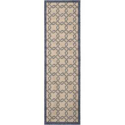 Kittrell Ivory/Blue/Gray Indoor/Outdoor Area Rug Rug Size: Runner 23 x 76