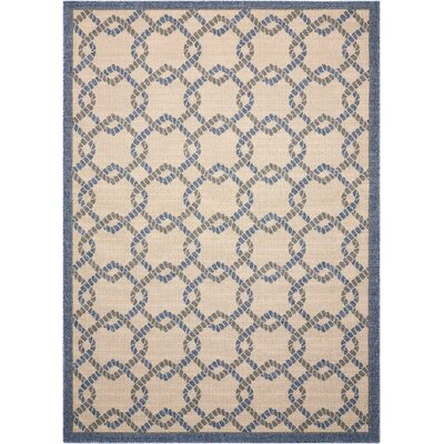 Kittrell Ivory/Blue/Gray Indoor/Outdoor Area Rug Rug Size: Rectangle 53 x 75
