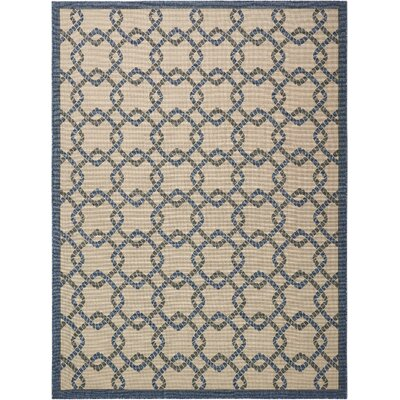 Kittrell Ivory/Blue/Gray Indoor/Outdoor Area Rug Rug Size: Rectangle 710 x 106
