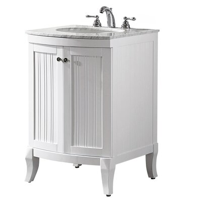 Harris 24 Single Bathroom Vanity Set Base Finish: White