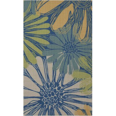 Galina Blue Indoor/OutdoorArea Rug Rug Size: Rectangle 23 x 39