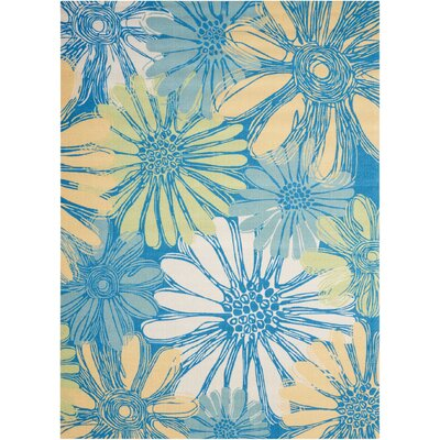 Galina Blue Indoor/OutdoorArea Rug Rug Size: Rectangle 43 x 63