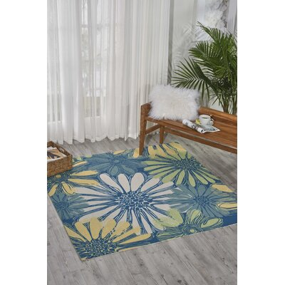 Galina Blue Indoor/OutdoorArea Rug Rug Size: Rectangle 53 x 53
