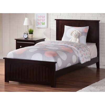 Graham Panel Bed Size: Twin XL, Color: Espresso