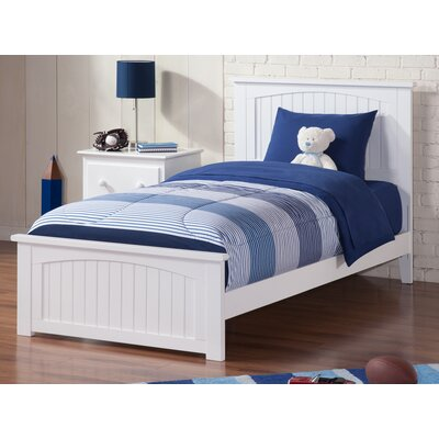 Graham Panel Bed Size: Twin, Color: White