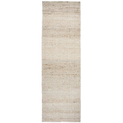 Jammie Hand-Loomed Natural Area Rug Rug Size: Runner 26 x 8