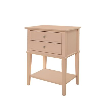 Winfield End Table With Storage Color: Pink