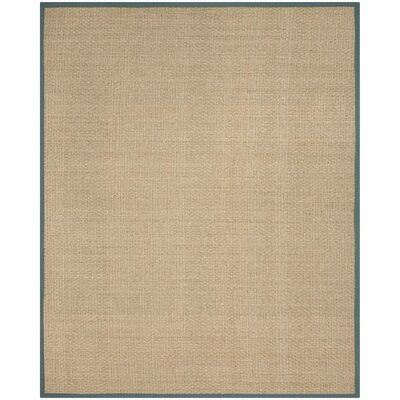 Richmond Natural/Light Blue Indoor Area Rug Rug Size: Rectangle 8 x 10