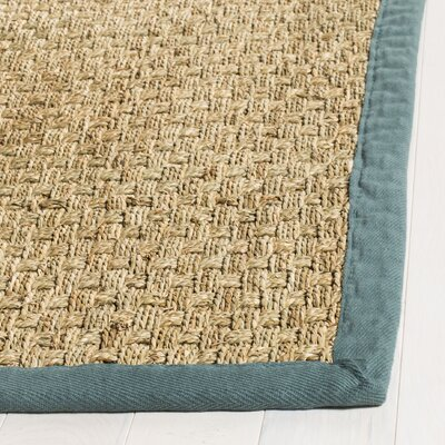Richmond Natural/Light Blue Indoor Area Rug Rug Size: Rectangle 5 x 8
