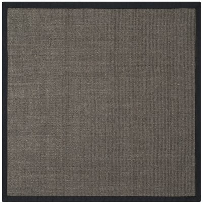 Greene Charcoal/Dark Gray Area Rug Rug Size: Square 6