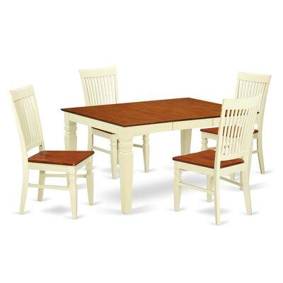 Pennington 5 Piece Wood Dining Set Color: Buttermilk/Cherry