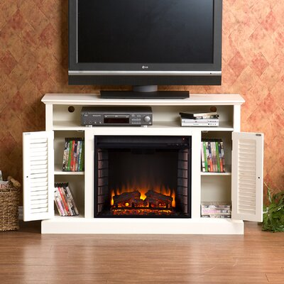 Osmond 48 TV Stand with Electric Fireplace Finish: Antique White
