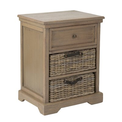 Cleveland End Table With Storage� Color: Natural