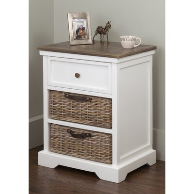 Cleveland End Table With Storage� Color: White