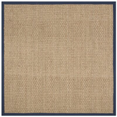 Greene Traditional Hand Woven Brown Area Rug Rug Size: Square 6