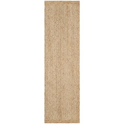 Greene Hand-Woven Natural Area Rug Rug Size: Runner 26 x 10