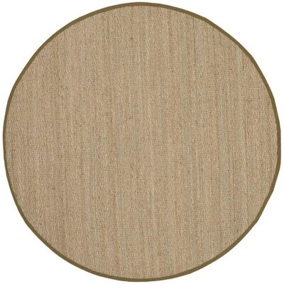 Greene Traditional Brown Area Rug Rug Size: 6 Round