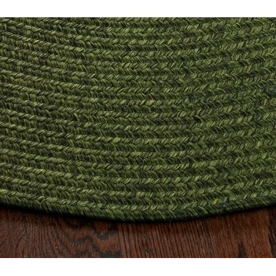 Lissie Hand-Woven Moss Green Area Rug Rug Size: Oval 4 x 6