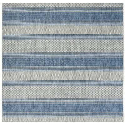McCall Gray/Navy Indoor/Outdoor Area Rug Rug Size: Square 67