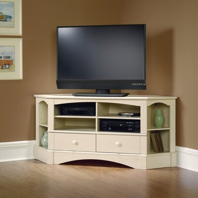 Pinellas 61.3 TV Stand Color: Antiqued White