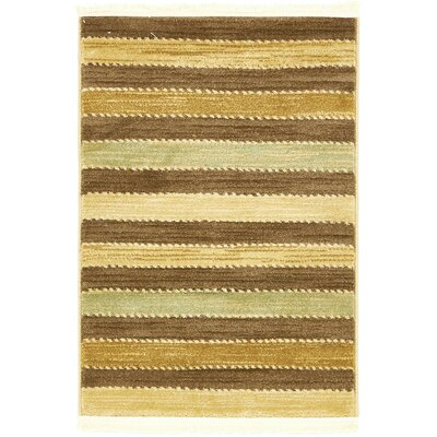 Langham Brown Area Rug Rug Size: Rectangle 18 x 18