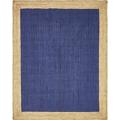 Calathea Hand-Braided Navy Blue Area Rug Rug Size: Rectangle 9 x 12