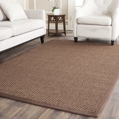 Greene Sisal Chocolate Indoor Area Rug Rug Size: Rectangle 5 x 8