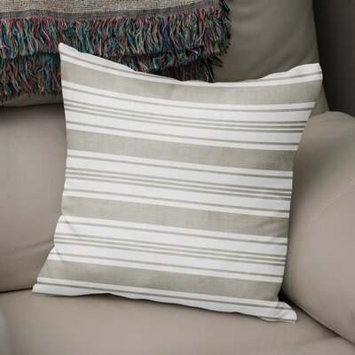 Pinehurst Throw Pillow Size: 18 H x 18 W x 5 D, Color: Beige/ White
