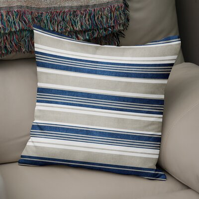 Pinehurst Throw Pillow Size: 16 H x 16 W x 5 D, Color: Blue/ Gold