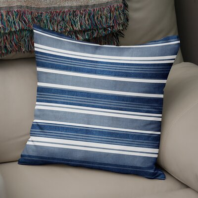 Pinehurst Throw Pillow Size: 18 H x 18 W x 5 D, Color: Blue