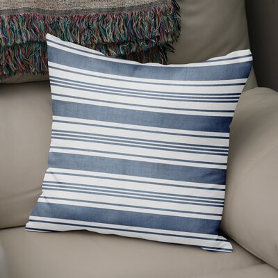 Pinehurst Throw Pillow Size: 24 H x 24 W x 5 D, Color: Blue/ White