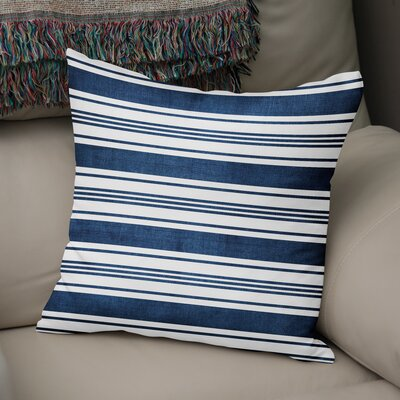 Pinehurst Striped Throw Pillow Size: 18