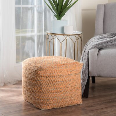 Federalsburg Pouf Ottoman Upholstery: Orange