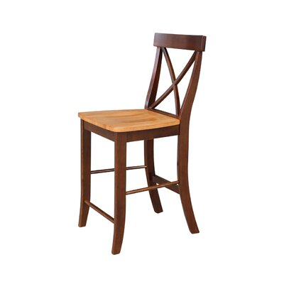 Downey 24 Bar Stool Color: Cinnamon/Espresso