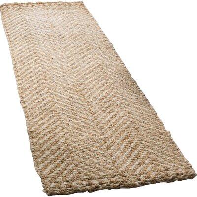 Ciel Fiber Hand-Woven Ivory/Natural Area Rug Rug Size: Runner 23 x 8
