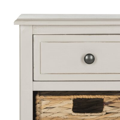 Darwin End Table With Storage Color: Vintage Gray