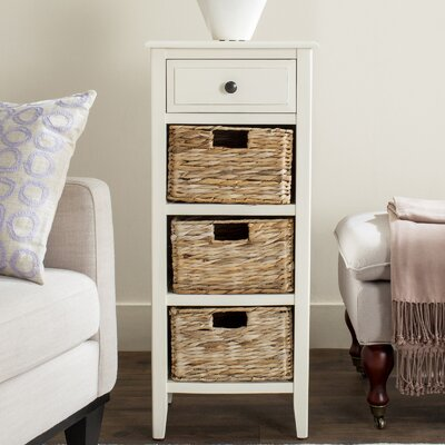 Darwin End Table With Storage Color: Distressed White