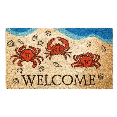 Silverside Crabby Welcome Coir Doormat