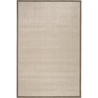 Greene Hand-Loomed Taupe / Light Brown Area Rug Rug Size: Rectangle 6 x 9