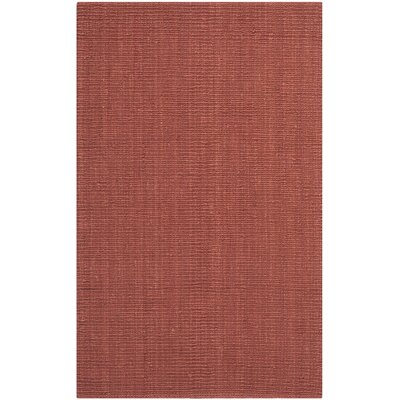 Cavanaugh Hand-Woven Red Area Rug Rug Size: Rectangle 5 x 8