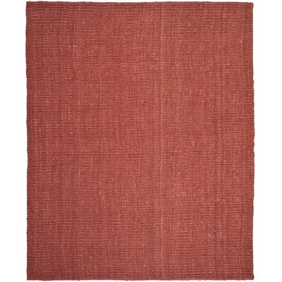 Cavanaugh Hand-Woven Red Area Rug Rug Size: Rectangle 8 x 10