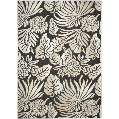 Patricia Black/Beige Indoor/Outdoor Area Rug Rug Size: Rectangle 8 x 112
