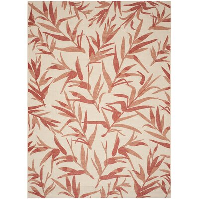 Higgs Beige & Terracotta Area Rug Rug Size: Rectangle 8 x 11