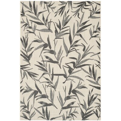 Higgs Beige/Anthracite Area Rug Rug Size: Rectangle 53 x 77