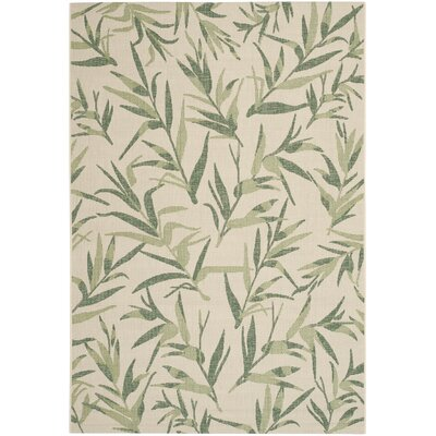 Higgs Beige/Sweet Pea Area Rug Rug Size: Rectangle 53 x 77