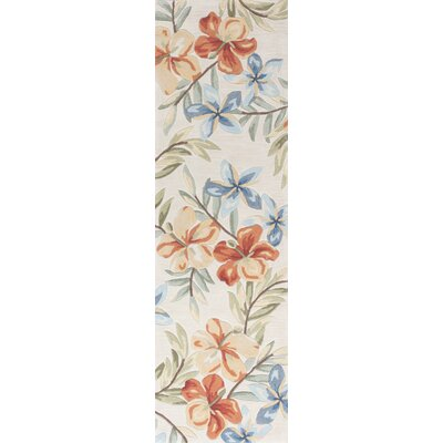 Cheyenne Hand-Tufted Ivory Floral Area Rug Rug Size: Runner 23 x 76