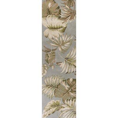 Imala Hand-Tufted Slate/Green Area Rug Rug Size: Runner 23 x 8