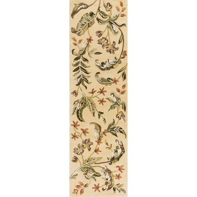 Imala Hand-Tufted Cream Area Rug Rug Size: Runner 23 x 8